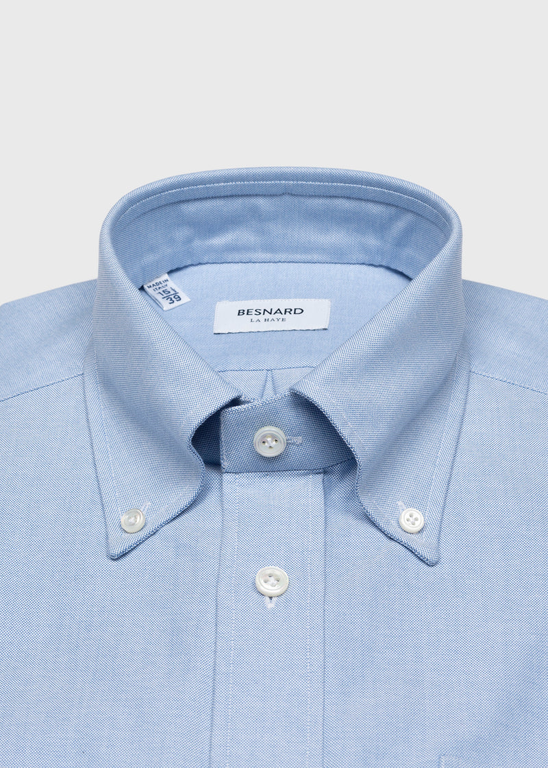 Blue Oxford Cloth Button Down Shirt