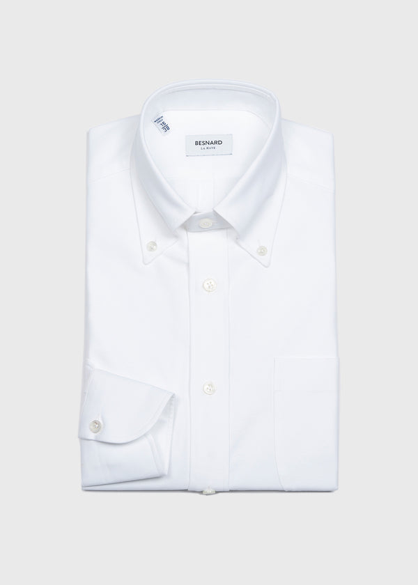 White Oxford Cloth Button Down Shirt