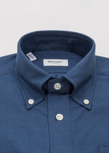 Navy Oxford Cloth Button Down Shirt
