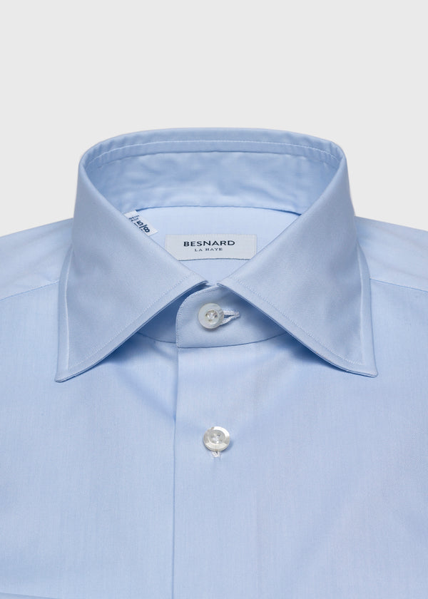 Blue Pinpoint Spread Collar Shirt