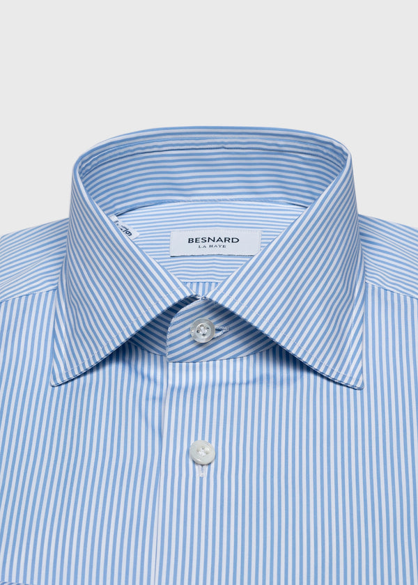 Blue Bengal Stripe Spread Collar Shirt