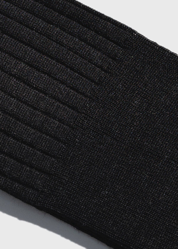 Over the Calf Socks in Charcoal Wool