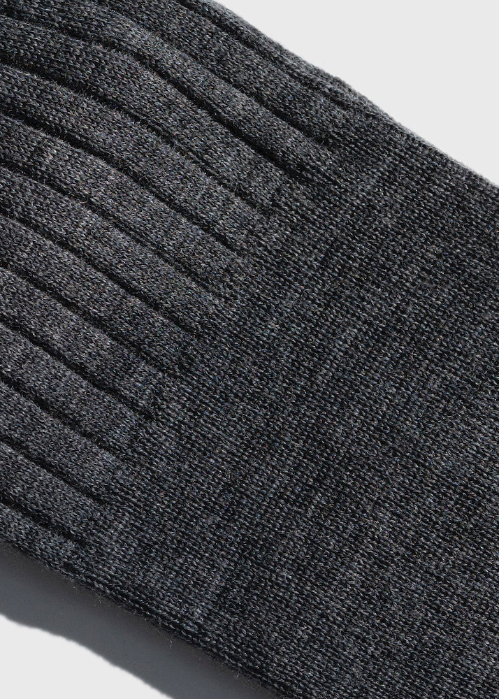 Over the Calf Socks in Grey Wool