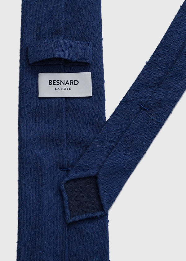 Hand rolled Blue Shantung Tie