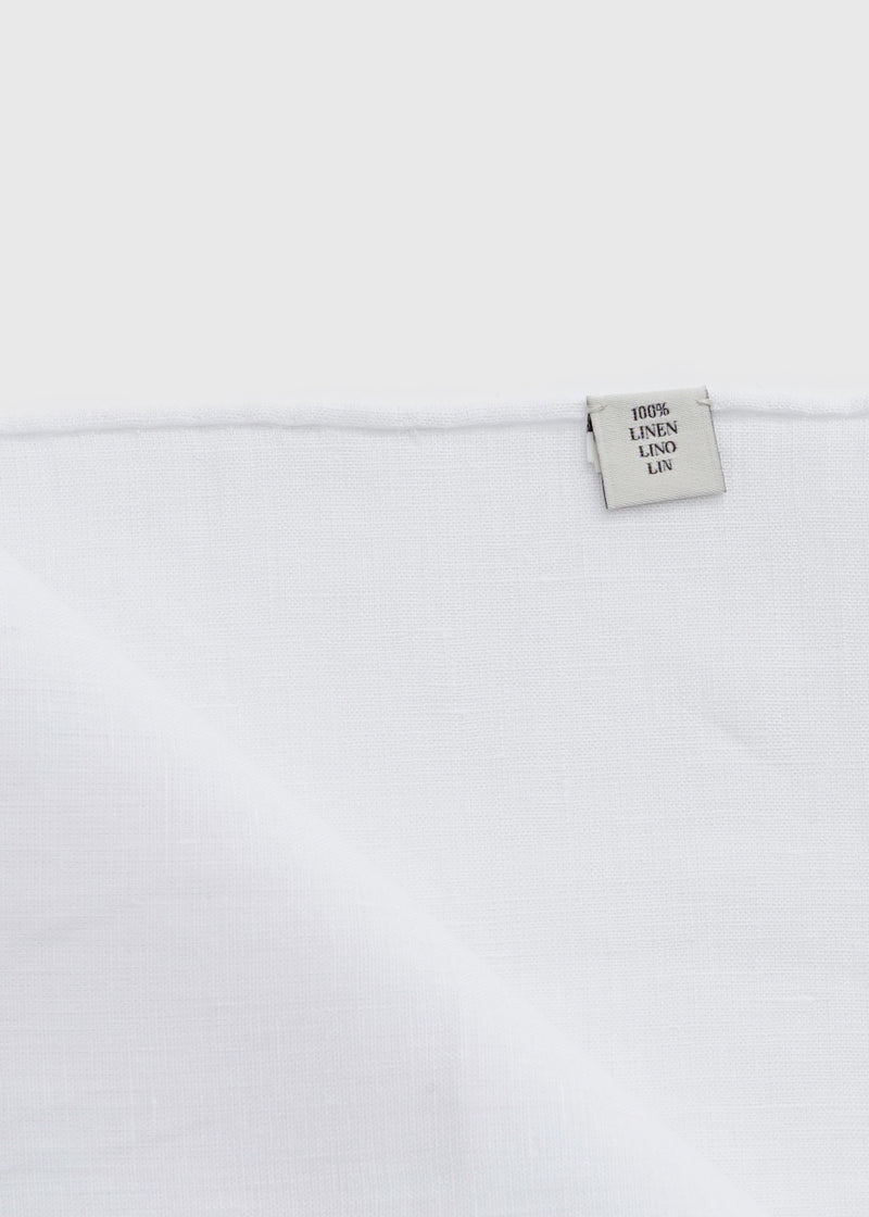 Linen Pocket Square White