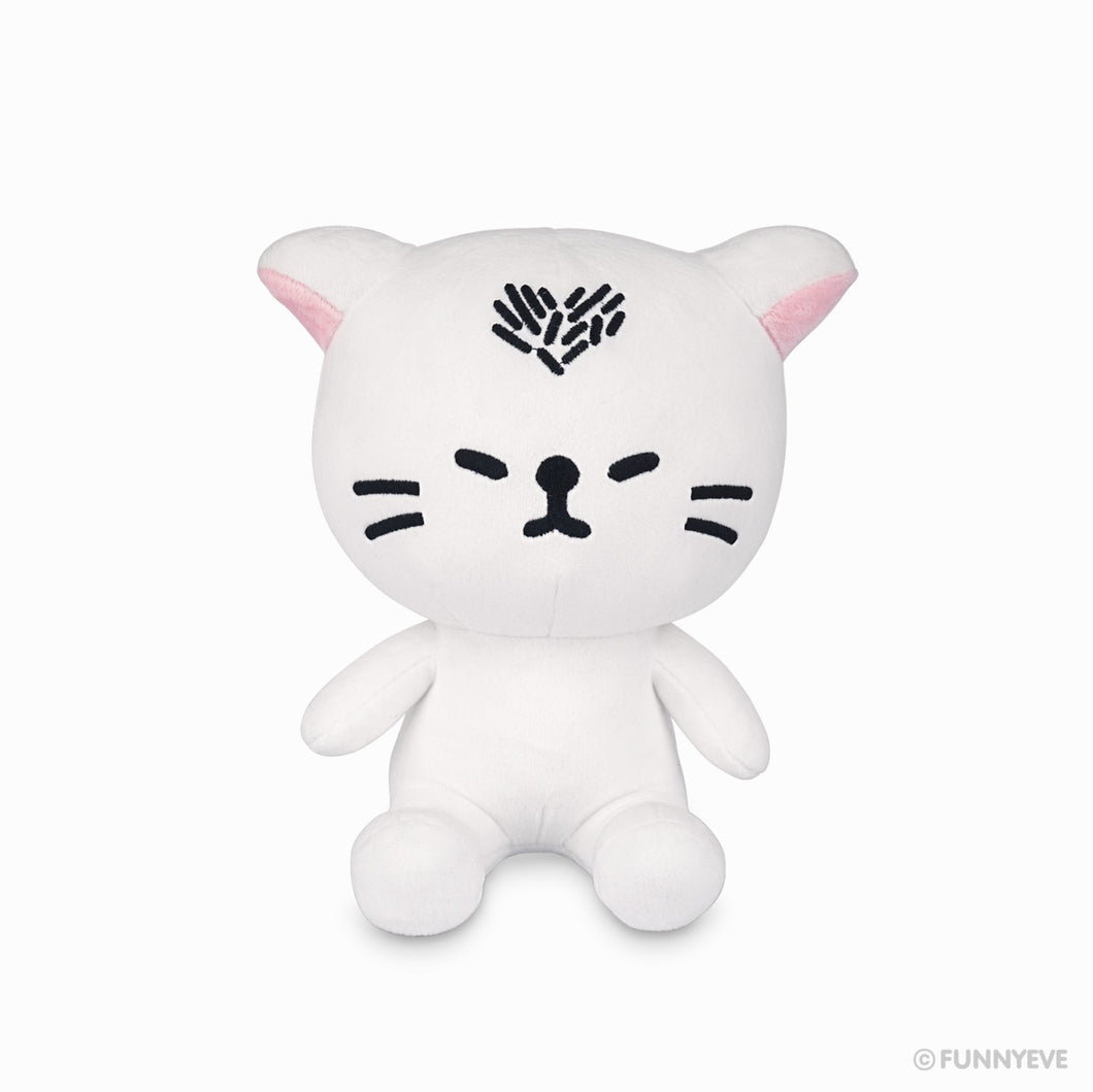 Heart Cat Sitting Plush Doll