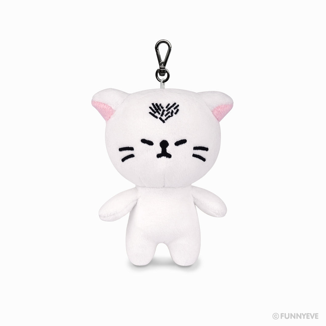Heart Cat Keychain Plush Doll