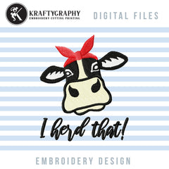 cow machine embroidery design free download