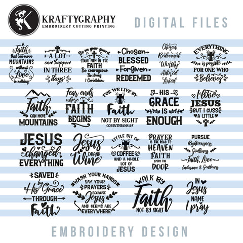 Religious Embroidery Designs, Christian Embroidery Patterns, Catholic Machine Embroidery Sayings, Cross Embroidery Downloads, Bible Verse Embroidery Hoop, Faith Embroidery Pes Files, Word Art Embroidery