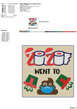 Load image into Gallery viewer, 2020 Went to Shit, Funny Christmas Embroidery Designs, 2020 Toilet Paper Embroidery Pattern, Gift Box Embroidery Files, Mask Embroidery pes Files, Poo Embroidery jef, Christmas Embroidery-Kraftygraphy