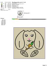 Load image into Gallery viewer, Cute Bunny Machine Embroidery Patterns, Easter Bunny Embroideryu Designs, Funny Rabbit Face Embroidery Files, Rabbit With Carrot Pes Files, Rabbit Outline Embroidery-Kraftygraphy