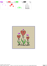 Load image into Gallery viewer, Cute Flower Heart Embroidery Designs, Simple Heart Flower Embroidery Patterns, Valentine's Day Embroidery Files, Mother's Day Pes Files, Floral Embroidery-Kraftygraphy