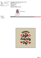 Load image into Gallery viewer, Happy Single Awareness Day Embroidery Designs, Anti Valentine Embroidery Patterns, Sarcastic Valentine's Day Embroidery Sayings, Funny Valentine Embroidery Pes Files, vp3, Hus, Jef Machine Embroidery-Kraftygraphy