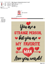Load image into Gallery viewer, Couple Funny Valentine Embroidery Designs, Couple Shirt Embroidery Sayings, Valentine Embroidery Patterns for Him and Her, Pillow Cover Embroidery, Kitchen Towels Embroidery,-Kraftygraphy