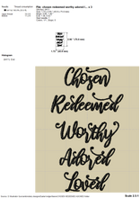 Load image into Gallery viewer, Religious Embroidery Patterns, Machine Embroidery Religious Sayings, Spiritual Embroidery Designs, Church Shirt Embroidery,-Kraftygraphy