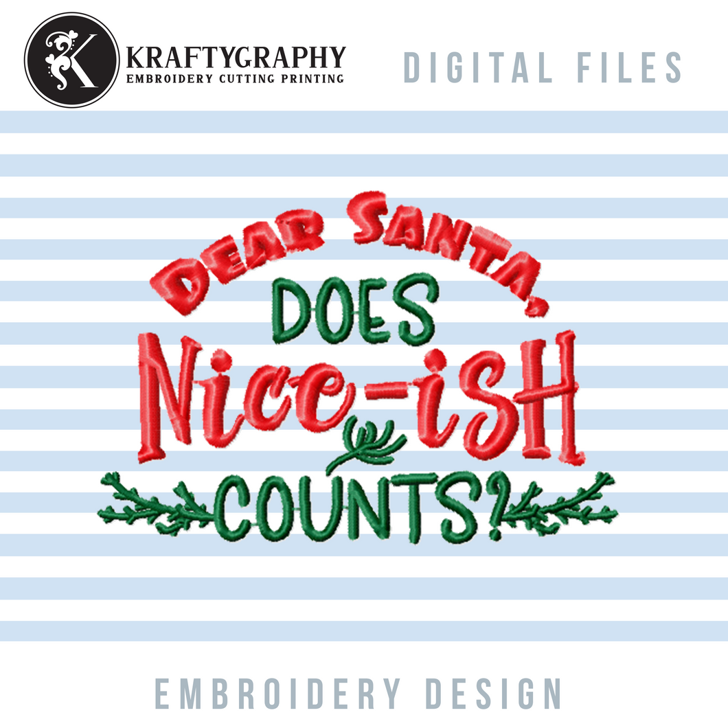 Christmas Word Art Machine Embroidery Designs, Christmas Embroidery Sayings, Pajamas Embroidery Patterns, Funny Shirts Embroidery Files, Adult Humor Pes Files,mask Hus Files, Dst Files-Kraftygraphy