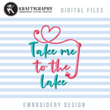 Load image into Gallery viewer, Lake Machine Embroidery Free, Fishing Embroidery Patterns Free, Camping Embroidery Sayings Free-Kraftygraphy