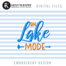 Load image into Gallery viewer, On Lake Mode Machine Embroidery Designs, Camping Embroidery File, Fishing Girl Embroidery Designs, Mountain Embroidery Pattern, Summer Embroidered Tops, Lake Shirt Embroidery, Lake Pes,-Kraftygraphy