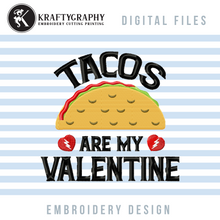 Load image into Gallery viewer, Anti Valentine Machine Embroidery Bundle, Funny Valentine Embroidery Patterns, Cute Valentine Embroidery Sayings, Drinking Pes Files, Sarcastic, Rude Embroidery Quotes, Dog, Sloth, Cat, Taco, Wine Embroidery-Kraftygraphy