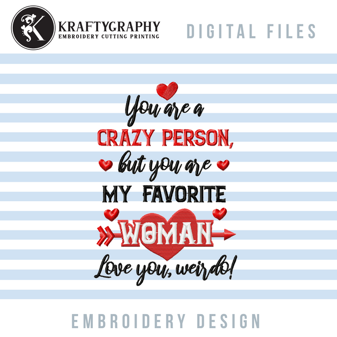 Couple Funny Valentine Embroidery Designs, Couple Shirt Embroidery Sayings, Valentine Embroidery Patterns for Him and Her, Pillow Cover Embroidery, Kitchen Towels Embroidery,-Kraftygraphy