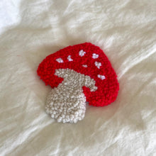 Load image into Gallery viewer, Mushroom Mug Rugs (set of 2)