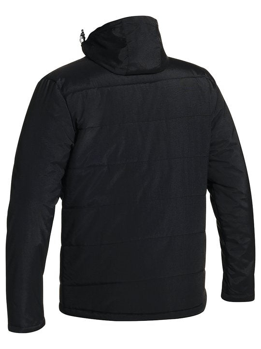 OXFORD PUFFER JACKET WITH ADJUSTABLE HOOD