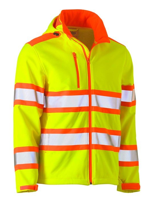 TAPED DOUBLE HI VIS SOFT SHELL JACKET