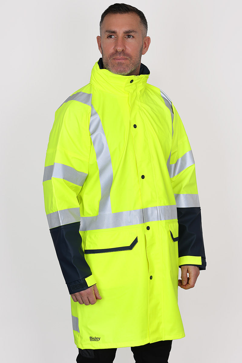 TAPED HI VIS RAIN COAT