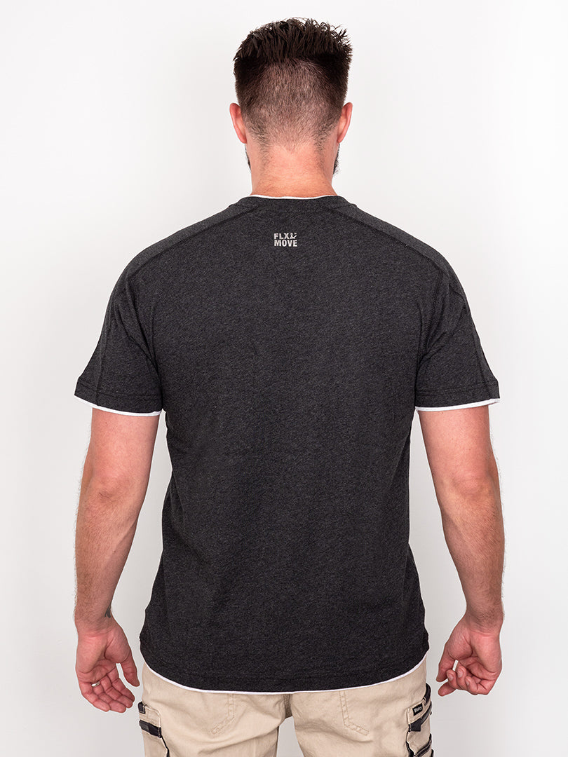 FLX & MOVE™ COTTON HENLEY TEE