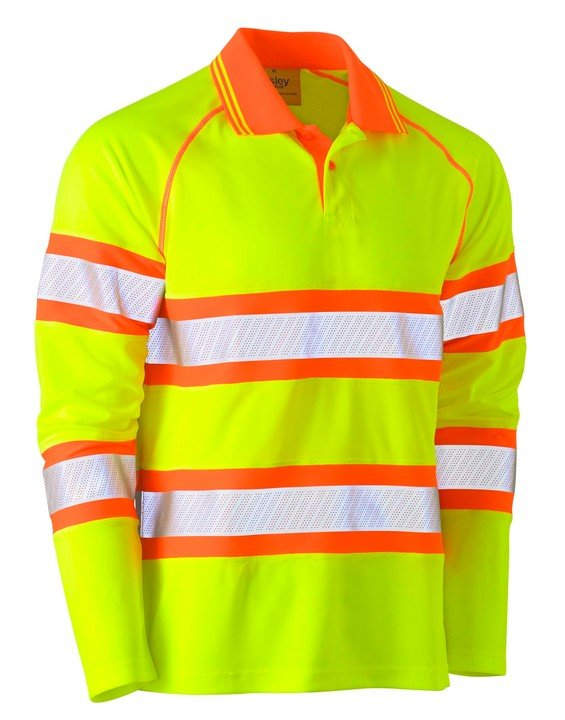 TAPED DOUBLE HI VIS MESH POLO