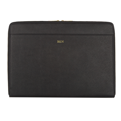 Black - Saffiano 13'' Laptop Sleeve - THEIMPRINT CO
