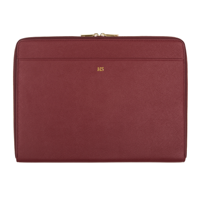 Burgundy - Saffiano 13'' Laptop Sleeve - THEIMPRINT CO