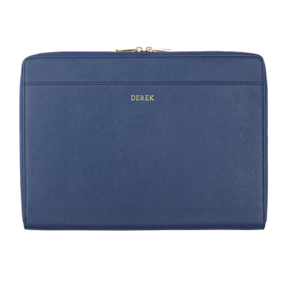 Navy - Saffiano 13'' Laptop Sleeve - THEIMPRINT CO