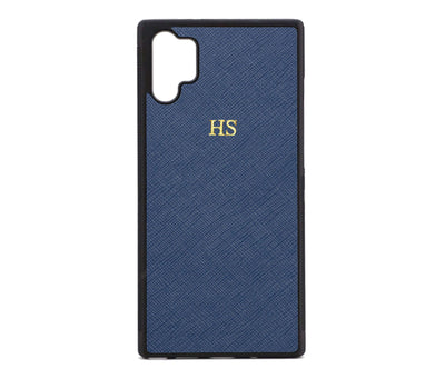 Navy Samsung Note 10 Plus Saffiano Phone Case | Personalise | TheImprint Singapore