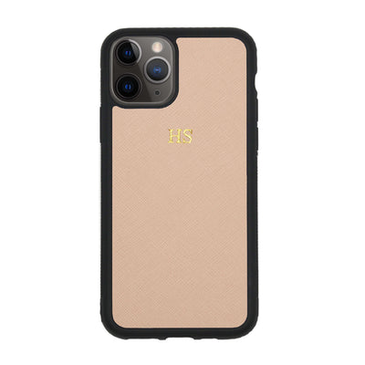 Nude iPhone 11 Pro Max Saffiano Phone Case | Personalise | TheImprint Singapore