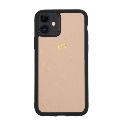 Nude iPhone 11 Saffiano Phone Case | Personalise | TheImprint Singapore