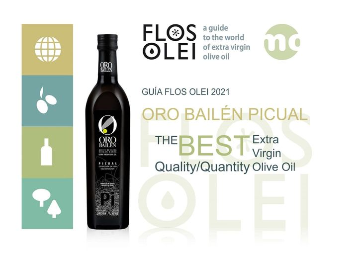Oro Bailen Picual Extra Virgin Olive Oil wins Flos Olei 2021 Award