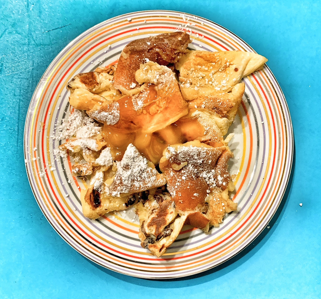 Kaiserschmarrn with lemon curd