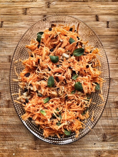 Carrot and nut salad by the Artisan Olive Oil Company