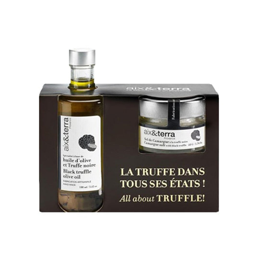 aix&terra back truffle oil and salt gift set