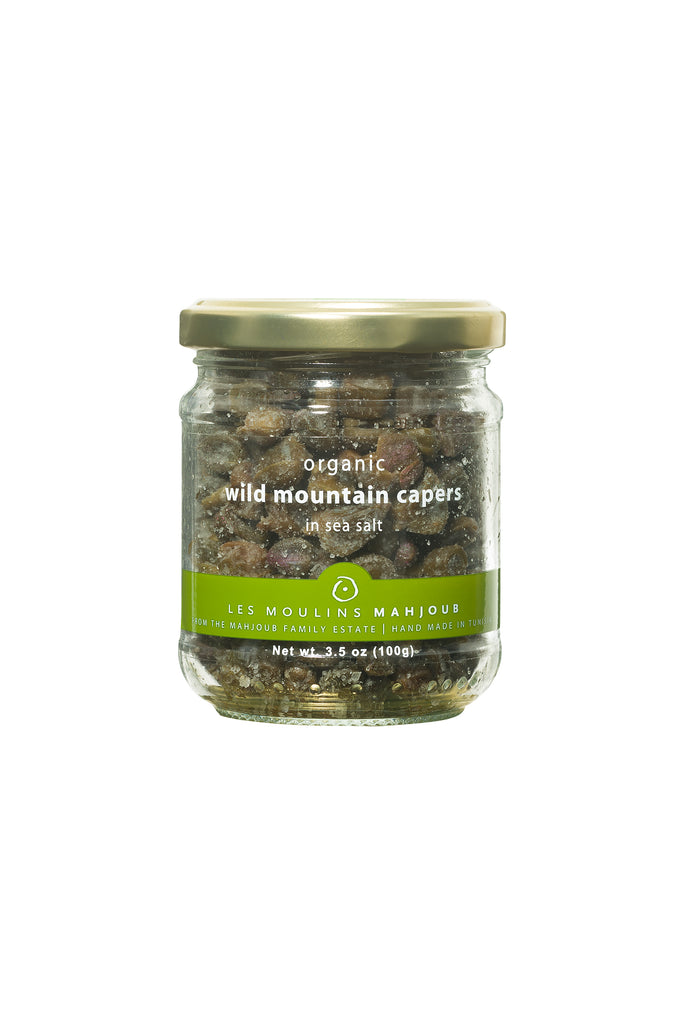 Moulins Mahjoub Organic Wild Mountain Capers in sea salt