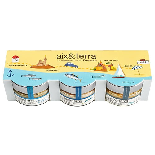 aix&terra N7 Sea Mediterranean Fish Dips Set 3 x100 grams