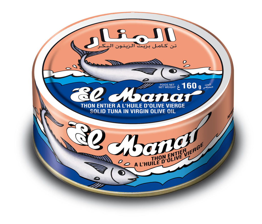 El Manar Solid Light Tuna in Virgin Olive Oil 160g