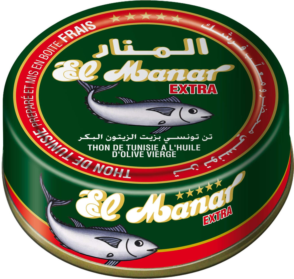 El Manar Premium Solid (Mediterranean Bluefin) Tuna in Virgin Olive Oil 160g