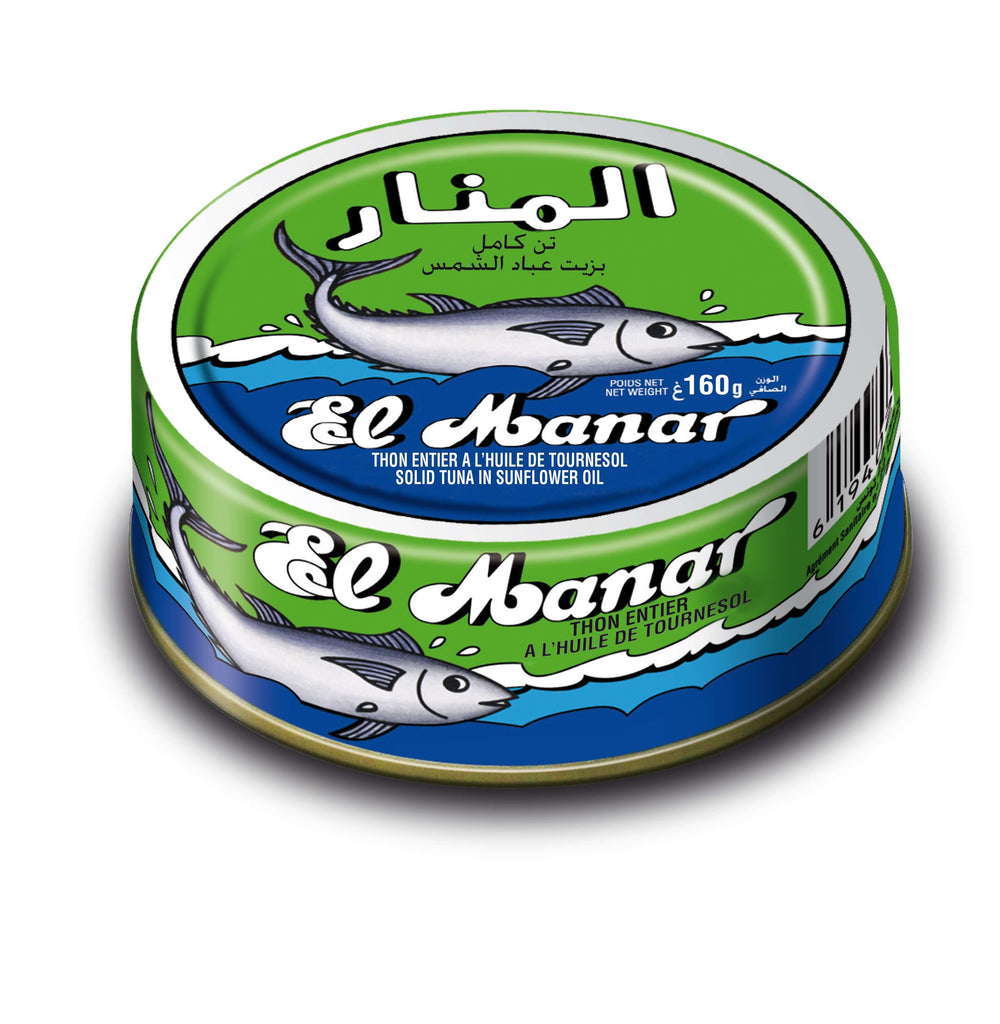 El Manar Solid Tuna in sunflower oil 160g