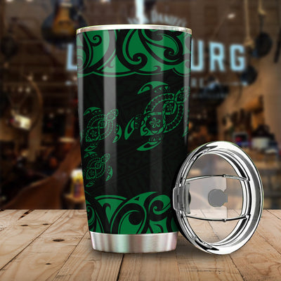 Polynesian Turtle Pattern All Over Print Tumbler
