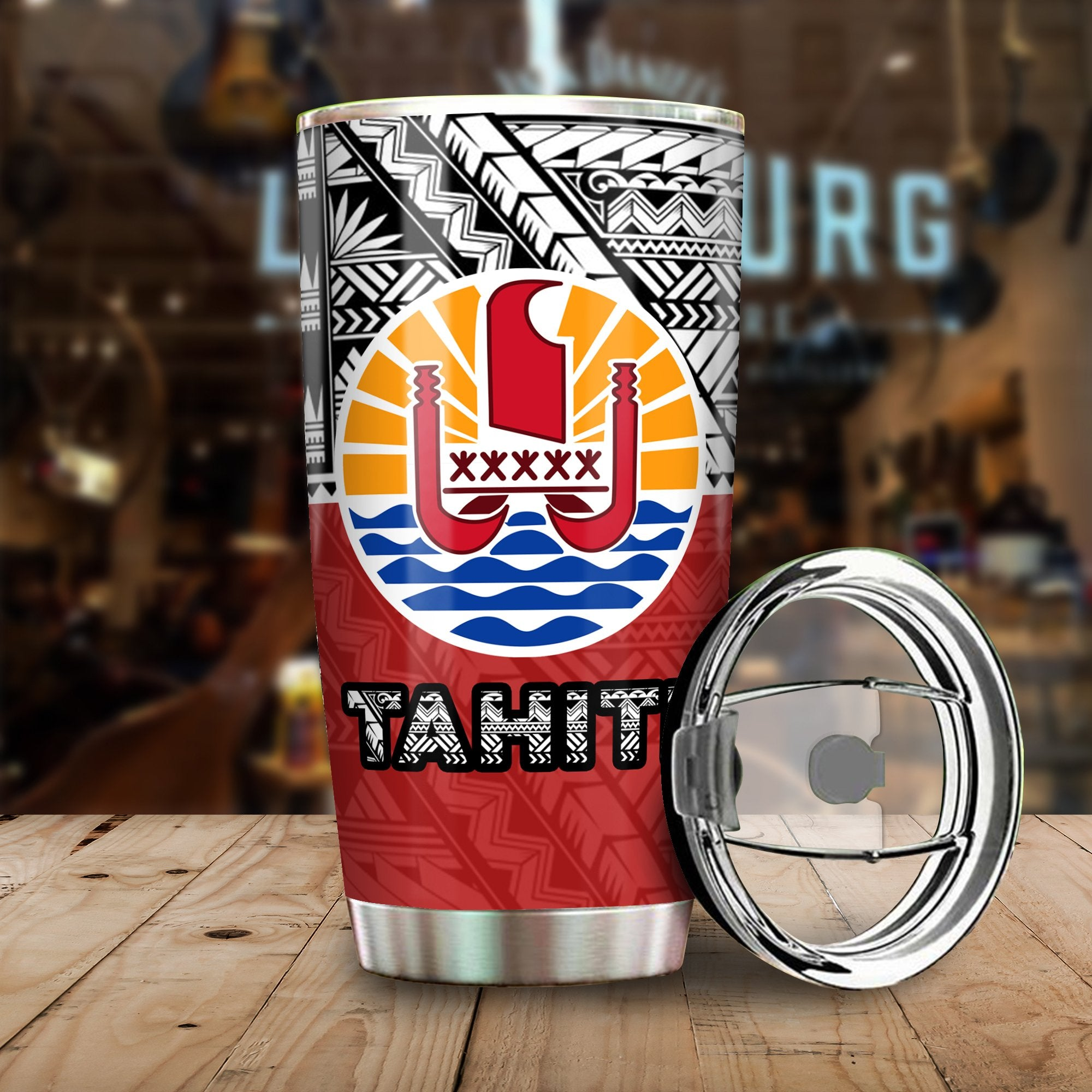Tahiti Polynesian Style Personalized All Over Print Tumbler