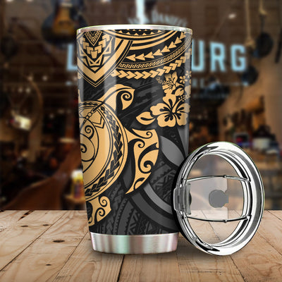 Polynesian Hawaii With Turtle Pattern All Over Print Tumbler