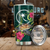 Chuuk Polynesian Green Turtle Hibiscus Tumbler All Over Print - luxamz
