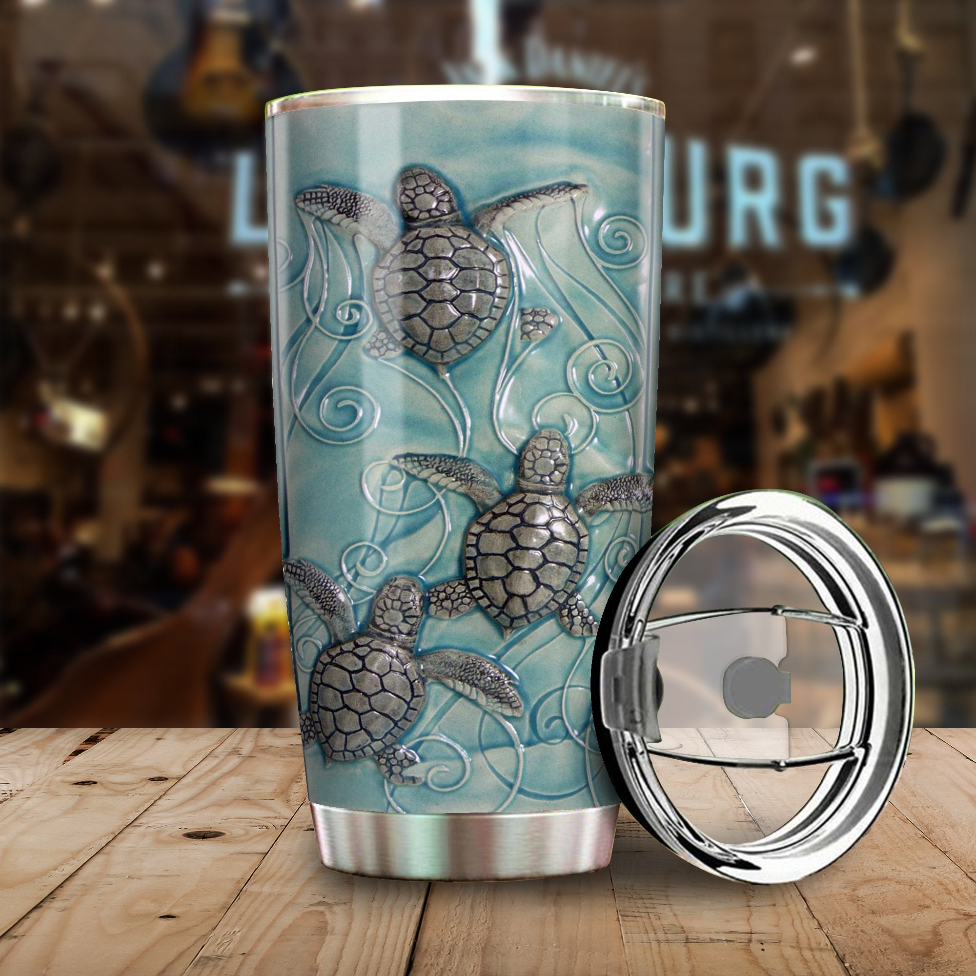 SEA TURTLE OCEAN COMING All Over Print Tumbler